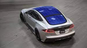Solar Panels On A Tesla Youtube