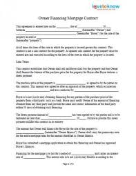 Property Contract Templates Mesmerizing 4444x44ownerfinancing Private Mortgage Contract