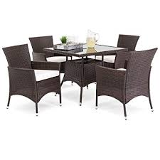 best choice s 5 piece indoor outdoor wicker patio dining set furniture w table