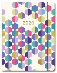 2020 Purple Geometric Just Right Monthly Planner