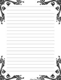 free lined paper template free printable stationery templates deco corner lined stationery