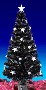 Black Fibre Optic Tree With Blue LED Stars  YouTubeBlack Fiber Optic Christmas Tree