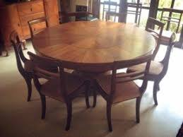 round dining table for 8. solid teak wood, 8-seater round dining table, chairs w cushion table for 8 n