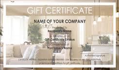 Store Gift Certificate Template Interior Design And Furniture Gift Certificate Templates Easy To