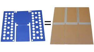 Folding Template For Clothes Shirt Folding Board Made From Cardboard And Duct Tape