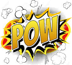 imagens pow ic book cartoon expression isolated on white background