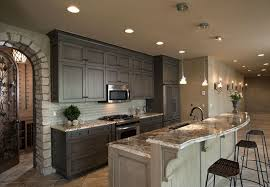 Kitchen Designs With Oak Cabinets Fascinating 48 Gray Kitchen Design Ideas Decoholic