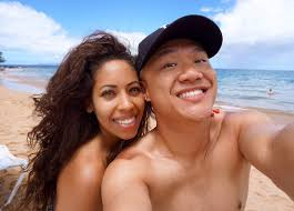 Timothy DeLaGhetto on Twitter Couple selfies on this nude beach.