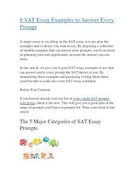 redesigned sat essay prompts cars models examples to use on sat essay related for