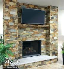 stone electric fireplace real natural look corner