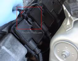 mercedes ignition coil pack replacement easy diy instructions unplug electrical connector from mercedes igntion coil