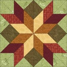 69 best Pioneer Blocks and Quilts~ Oregon Trail images on ... & Hidden Star Block Fall colors dream castle quilts, very pretty simple  fabrics Adamdwight.com