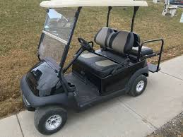 model 2016 club car precedent electric year 2016 description this beauty comes equipped with a rear flip seat and led light kit brand new metallic black