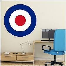 white blue target wall art sticker 6
