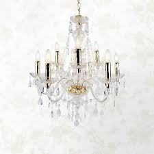 details about modern classic clear gold marie therese 9 light ceiling pendant chandelier