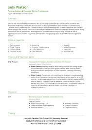 Customer Service CV Examples And Template Interesting Customer Service Description For Resume
