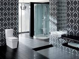bathroom wallpaper. Black And White Bathroom Wallpaper