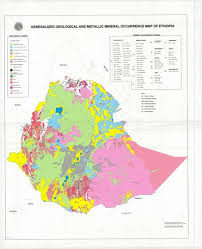 Mineral Chart Geology Ethiopia Thematic Geological And Metalic Mineral Occurence