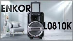 Loa Kéo Karaoke Enkor L0810K Đen 25W - Giá rẻ, chính hãng