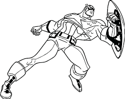 Captain America Coloring Pages Civil War Captain Coloring Page