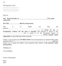 Non Objection Letter Letter Format From Landlord Images