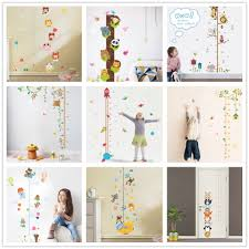 Wall Chart Jungle Us 2 41 41 Off Jungle Animals Lion Monkey Owl Height Measure Wall Sticker For Kids Rooms Growth Chart Nursery Room Decor Wall Decals Art In Wall