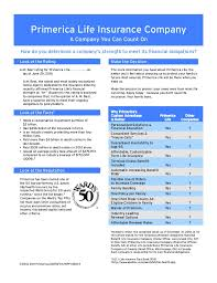 Primerica Financial Primerica Life Fact Sheet