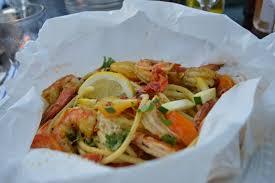 Seafood Pasta En Papillote