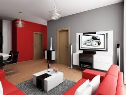 Red And Grey Decorating Red And Gray Living Room Design Decoration Home Interior Ideas