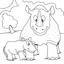 baby rhino coloring page rhinoceros pages to print spiderman rhinoce