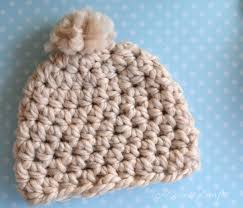 Bulky Yarn Crochet Hat Patterns Classy Chunky Newborn Beanie Pattern PACountryCrafts