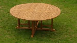 a grade teak wood 72 round dining table outdoor patio garden new