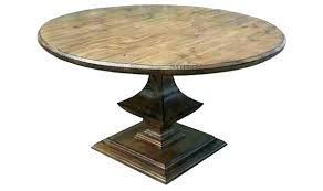 coffee table pedestal unfinished round oak pedestal coffee table