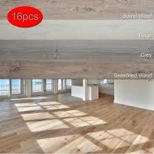 details about vinyl plank flooring self adhesive l and stick bathroom wood floor 16 pcs