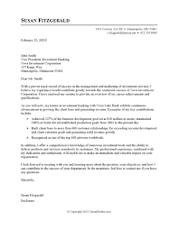 Letter Example Investment Banking Best Solutions Of Resume Cover
