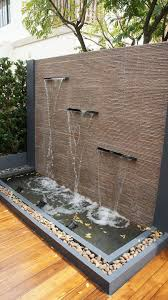 waterfall outdoor wall fountains