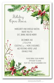 Christmas Holiday Invitations Watercolor Mistletoe Holiday Invitations