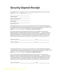 Rental Lease Custom Receipt For Lease Security Deposit Template Landlord Gocreatorco