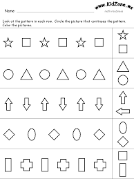 Pattern Worksheets For Preschool