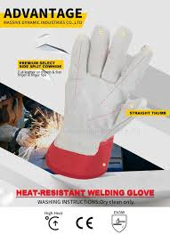parameter of red leather work glove