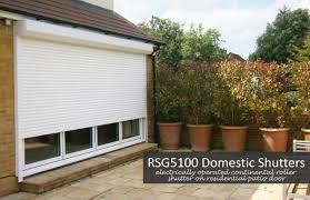 rsg5100 continental roller shutter fitted on a patio door at the rear of a domestic property