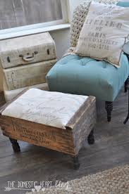 diy bedroom furniture. Brilliant DIY Decor Ideas For The Bedroom - Vintage Crate Footstool Rustic And Diy Furniture