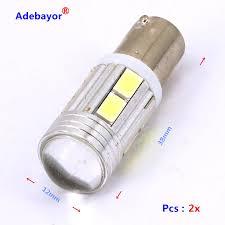 Ba9s Led Light Bulb Us 6 47 20 Off 10 Pcs Lot White Car Bulbs Ba9s Led 12v Car Led 5630 10 Smd 10led Lens Interior Bulbs Reading Light Car Light In Signal Lamp From