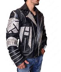 silver studded black motorcycle jacket mens studded black motorcycle leather jacket