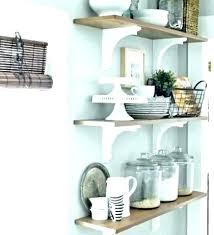floating kitchen shelf how to install heavy duty shelves corner ideas for open wooden