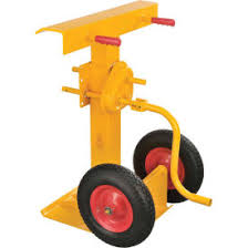 Hand Crank Trailer Jack Stand 100,000 Lb. Static Cap. Semi-Pneumatic Wheels Dock \u0026 Truck Equipment | Stabilizers Jacks