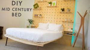 mid century modern platform bed trends also diy images