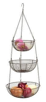 RSVP Internatinal 3-Tier Hanging Wire Storage Baskets - Bronze | Everything  Kitchens