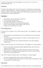 Live Resume Impressive Professional Audio Engineer Templates To Showcase Your Talent