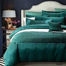 blue green duvet cover paisley organic watercolor fern sateen shams dark green bedding sets marvelous